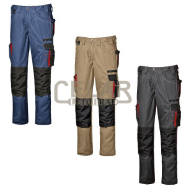 HARRISON kalhoty do pasu montérkové
