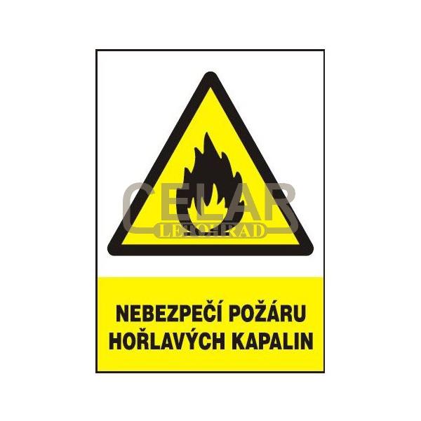 Nebezpečí požáru hořlavých kapalin 210x297 mm - plast