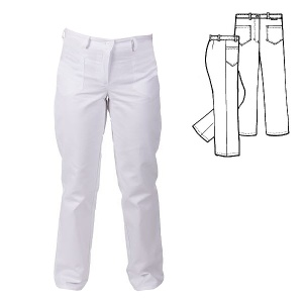 (0487) kalhoty dámské snížený pas, poutka