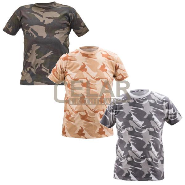 tričko CRAMBE kamufláž krátký rukáv