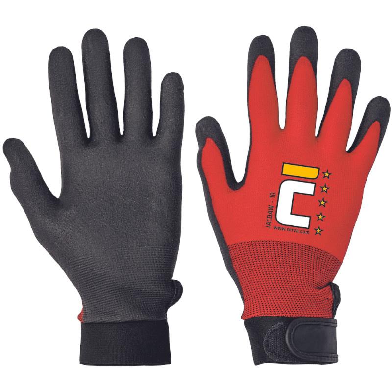 JACDAW rukavice pletené bezešvé nylon