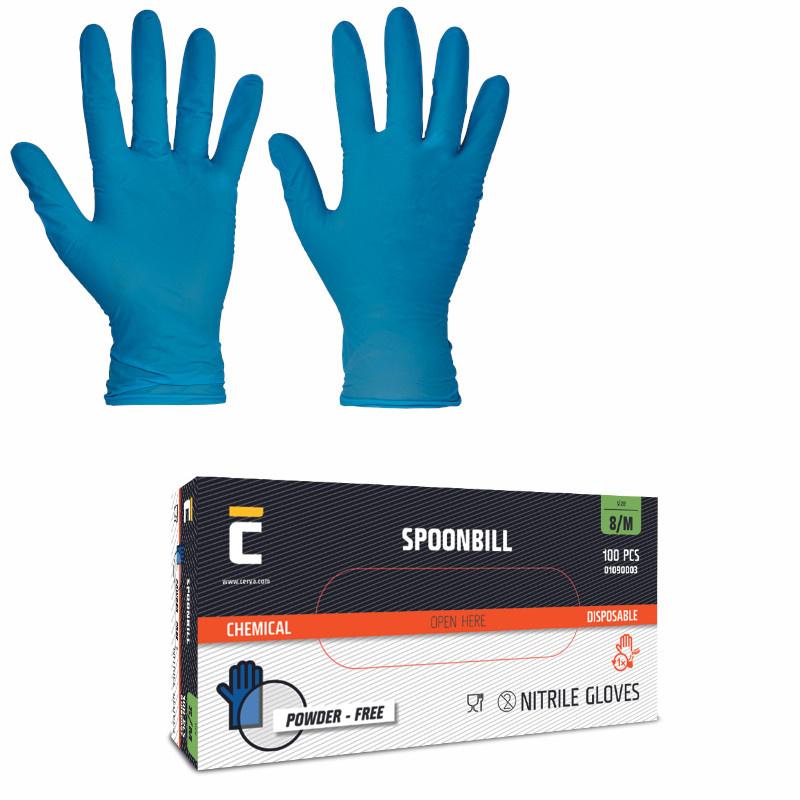 SPOONBILL rukav.jednoráz.nitril nepudr