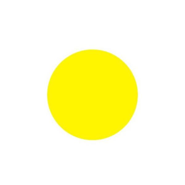 Výstražné kolečko žluté barvy 90mm - samolepka