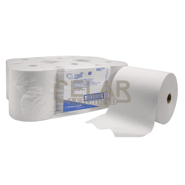 Ručník SCOTT 1-vrstvý 304m (6 rolí) bílý