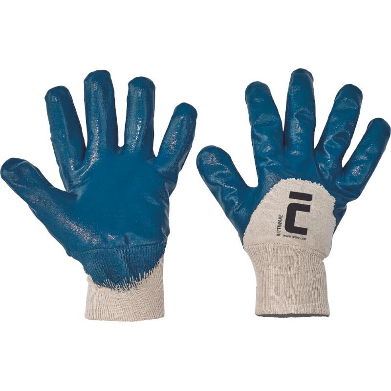 KITTI WAKE rukavice polomáčené nitril modré - 10