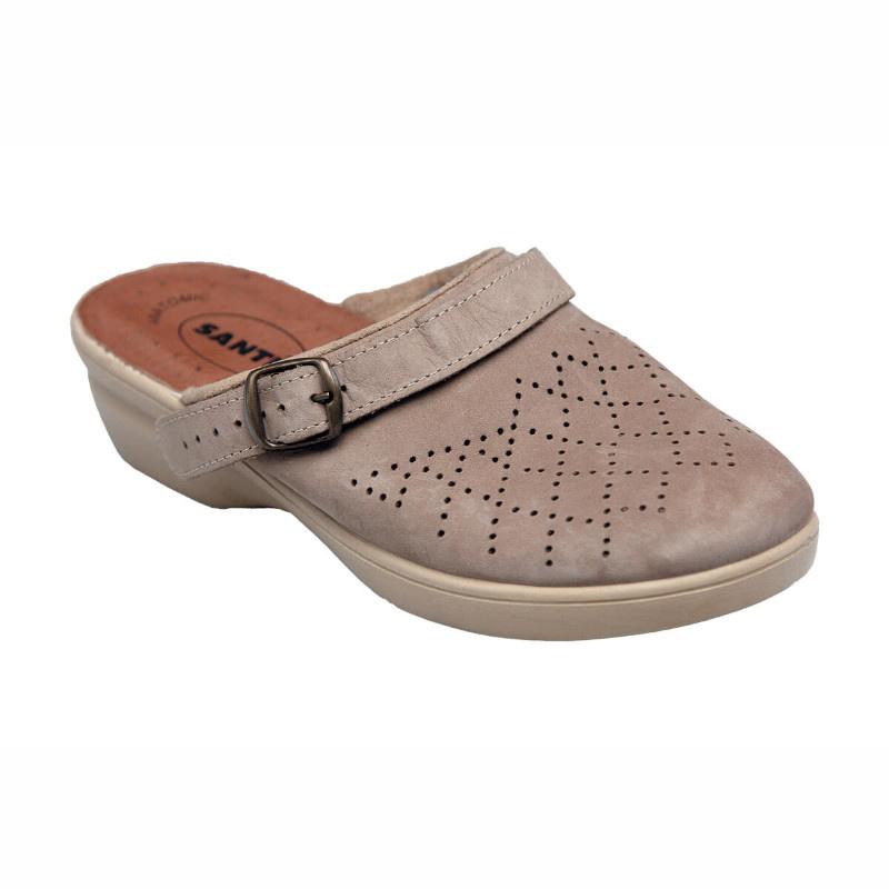 SANTÉ PO/5284 Pantofle dámské BÉŽOVÁ