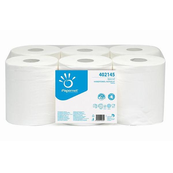 Ručník 402145 papírový v roli 2-vrstvý 124m - bílý