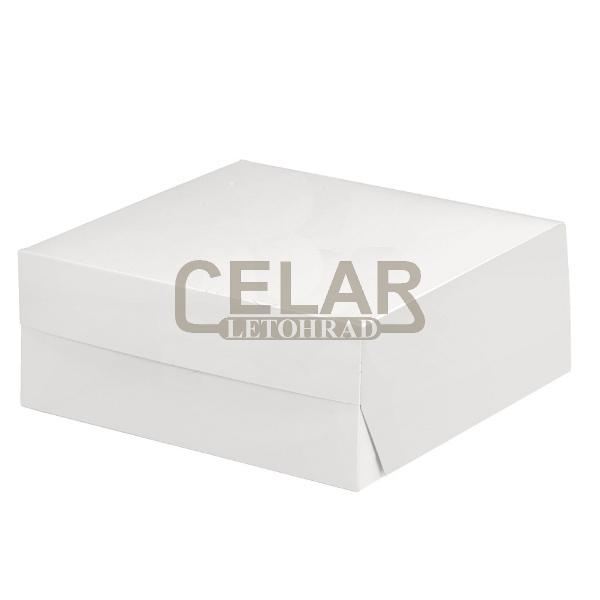 Krabice dortová, zákusková 22x22x9cm (50ks)