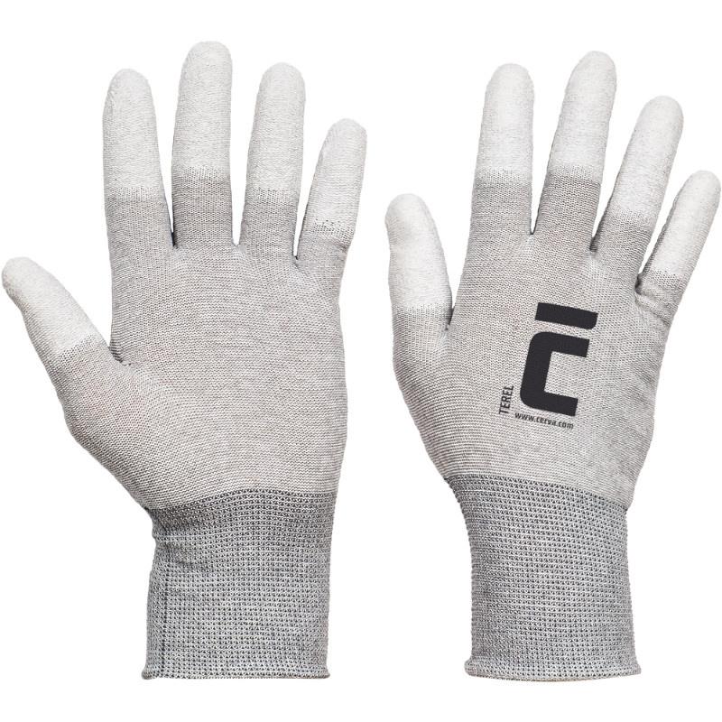 TEREL rukavice nylonové AS PU prsty