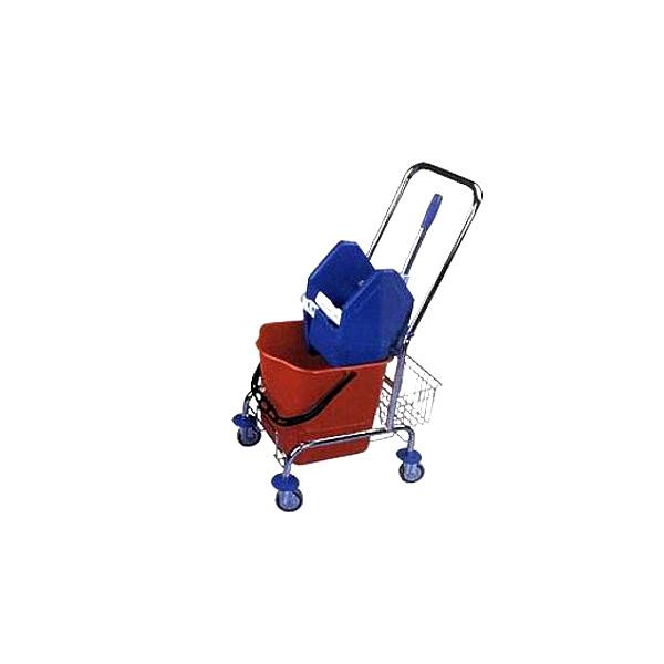 Úklidový vozík FILMOP 25l, chrom, košík