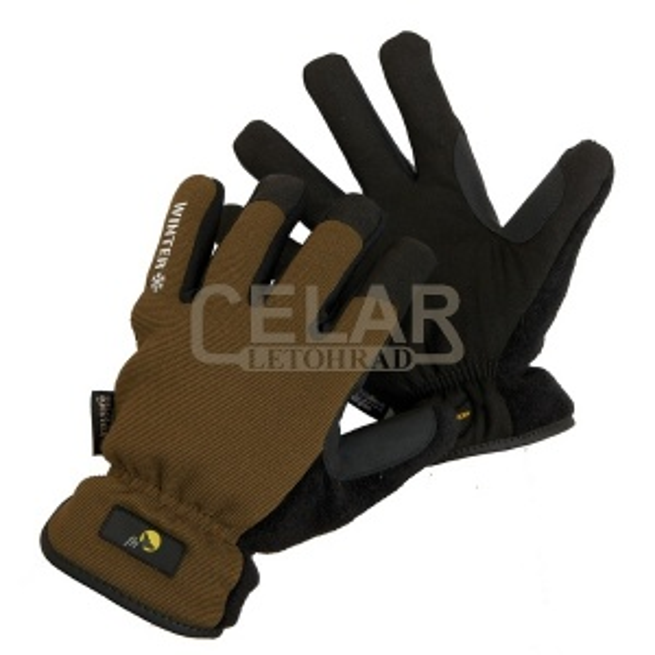 OTUS rukavice zimní kůže/Spandex