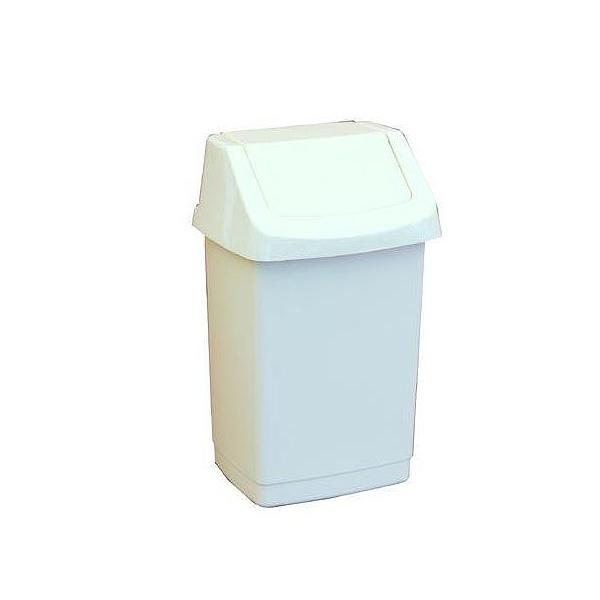 Koš odpadkový 9l výklopný bílý