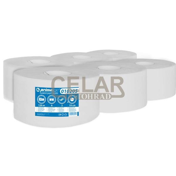 JUMBO PrimaSoft 190mm 2-vrstvé toaletní papír bílý (6ks)