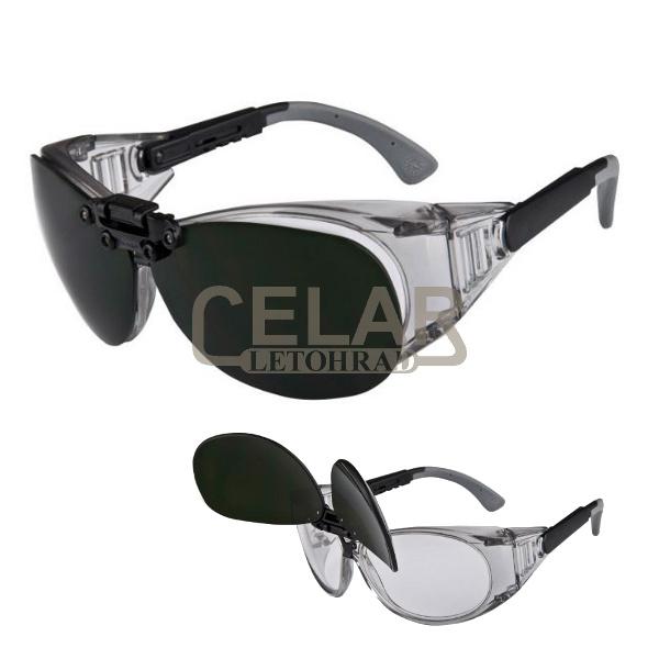 R1000 brýle ochranné odklápěcí svářecí 2v1