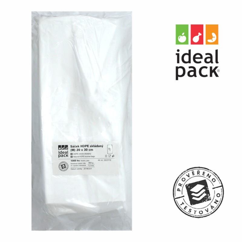 MI sáček skládaný ideal pack® 20x30cm (M) 8mi (1000ks)