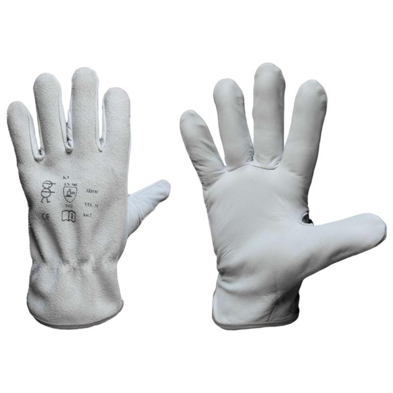 K3 rukavice celokožené kozinka/štípenka