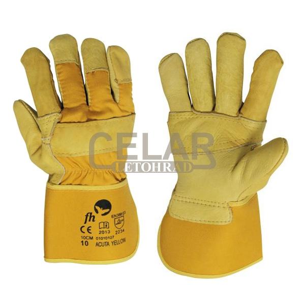 ACUTA YELLOW rukavice kombinované - 10