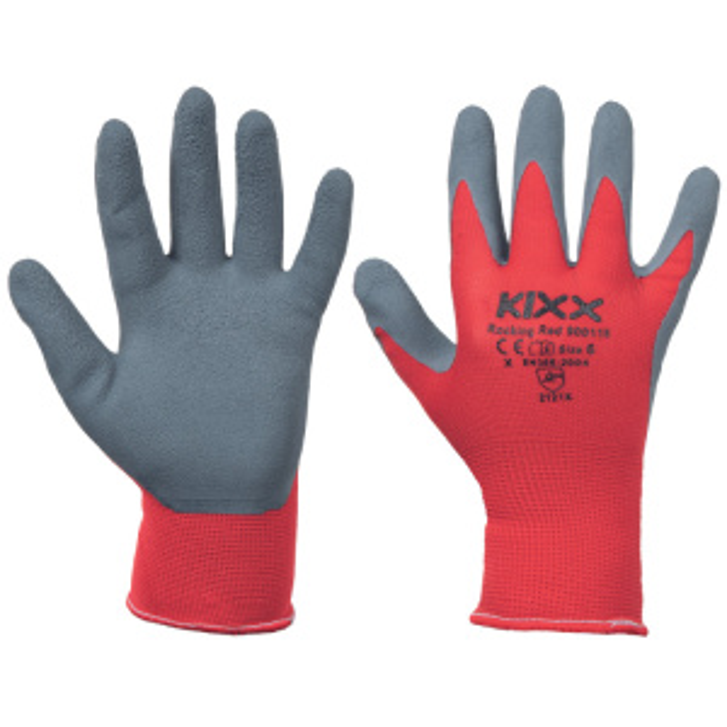 ROCKING RED KIXX rukavice nylon/latex