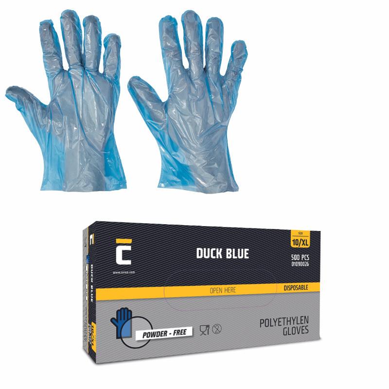 DUCK BLUE rukavice jednorázové polyethylen (500ks)