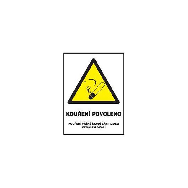 Kouření povoleno-pro restaurace 120x160mm samolepka