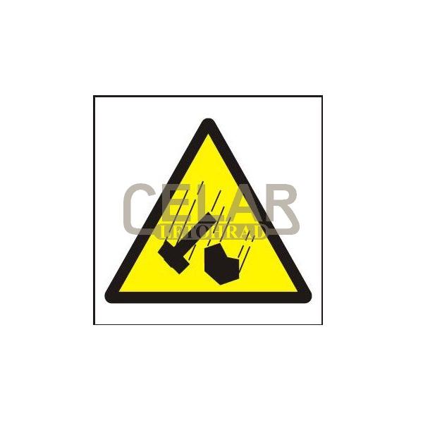 Padající předměty - symbol 210x210 mm - plast