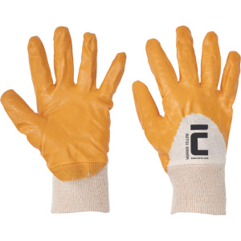 HARRIER YELLOW ruk.polomáč.nitril - žlutá