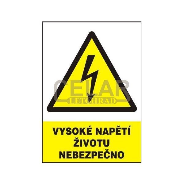 Vysoké napětí-životu nebezpečno 148x210mm samolepka