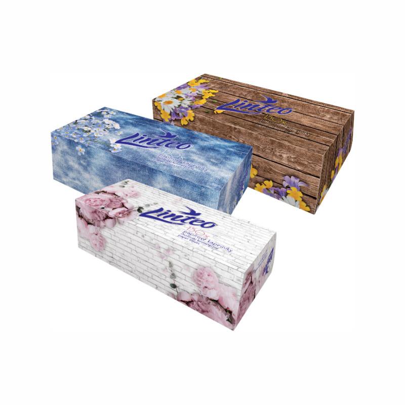 LINTEO BOX kapesníky papír.vytahovací 2-vrstvé (150ks)