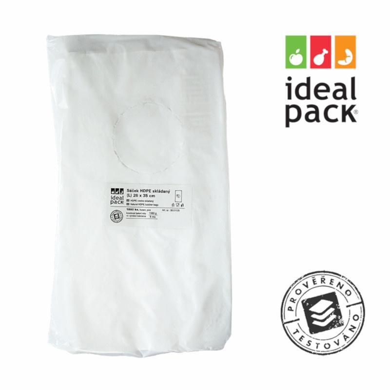 MI sáček skládaný ideal pack® 26x35cm (L) 8mi (1000ks)