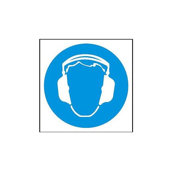 Symbol chrániče sluchu 148x148mm - samolepka