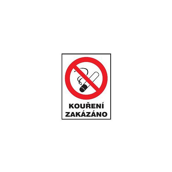 Kouření zakázáno-pro restaurace 120x160mm samolepka