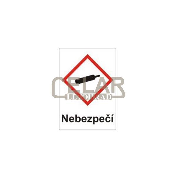 Plyny pod tlakem – nebezpečí (GHS04) 105x148 mm tabulka samolepka
