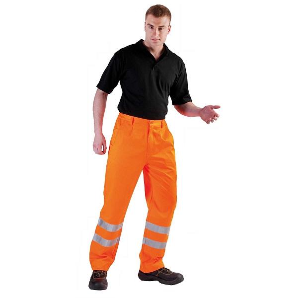 KOROS kalhoty mont.do pasu výstražné
