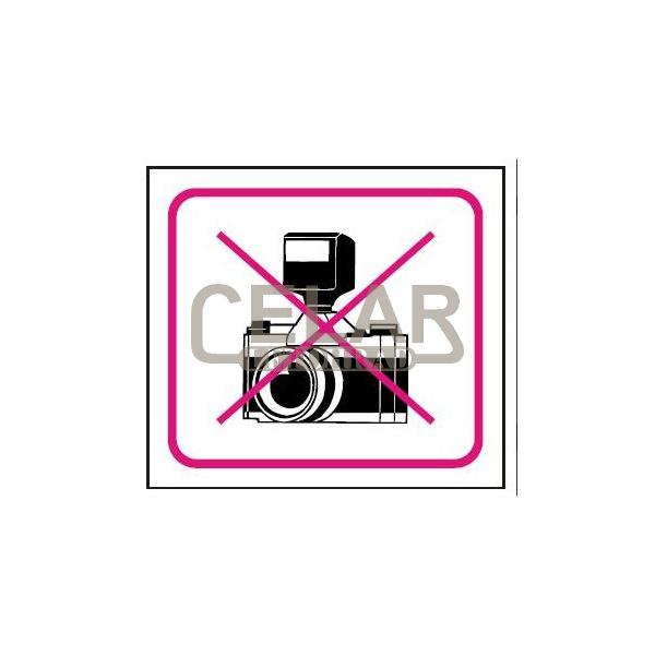 Zákaz fotografování - symbol - 100x90mm samolepka