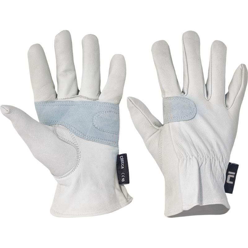 CRECCA rukavice celokožené