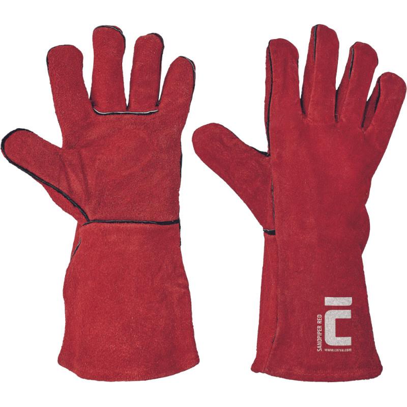 SANDPIPER RED rukavice svářečské A 35cm - 12