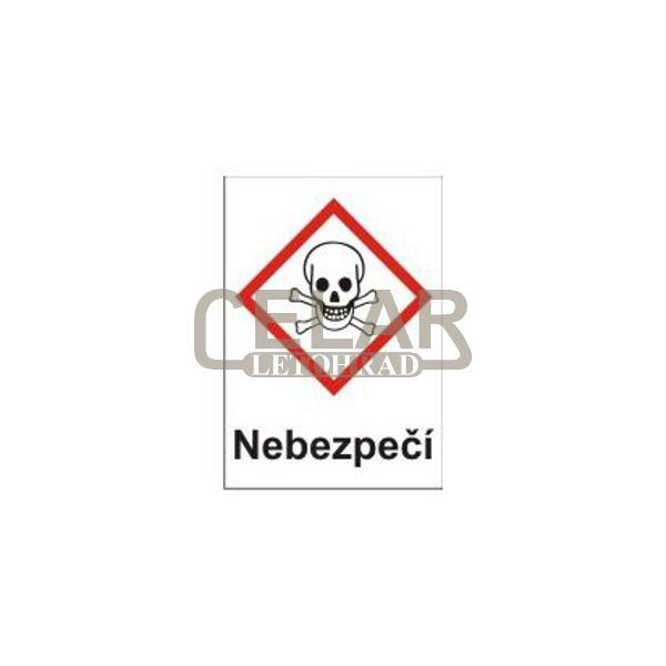 Toxické - nebezpečí (GHS06) 105x148 mm tabulka samolepka