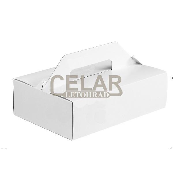 Krabice výslužková - nosič zákusků 27x18x8cm (50ks)