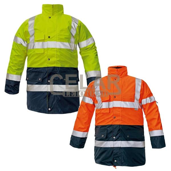 BI ROAD bunda zateplená výstražná HV