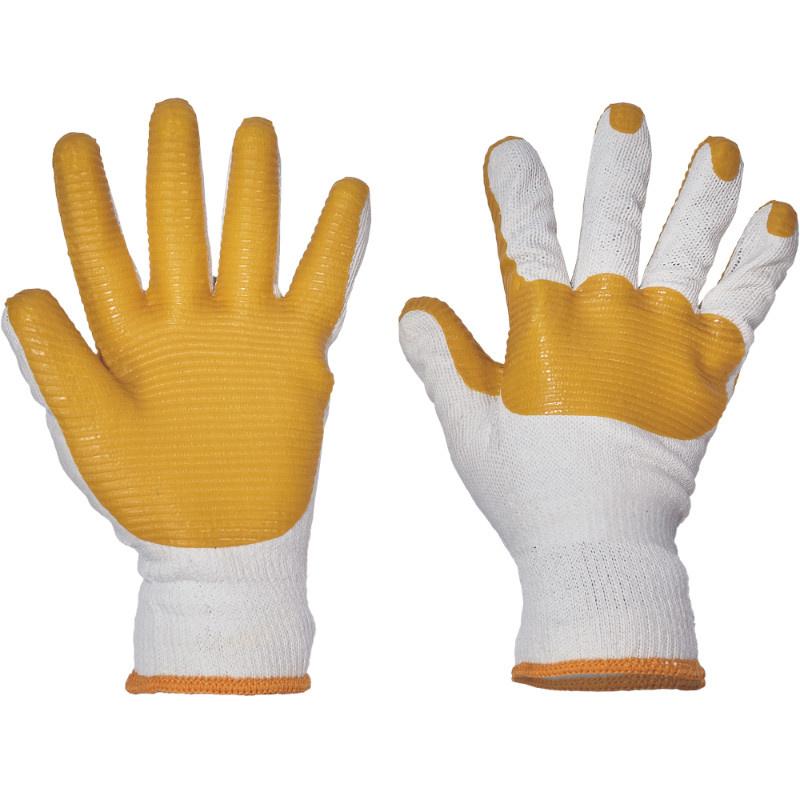 YELLOWHAMMER rukavice pletené latex