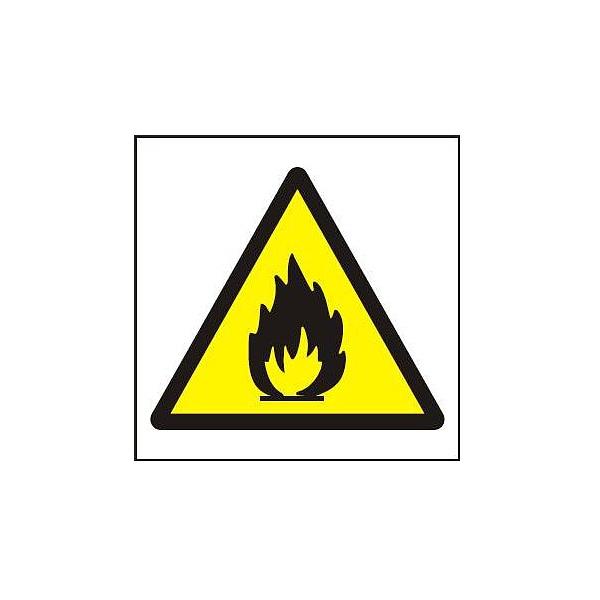 Symbol plamen 105x105mm - samolepka