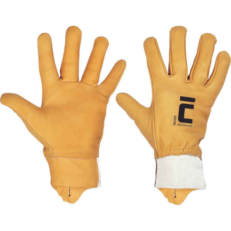 VACHER rukavice celokožené