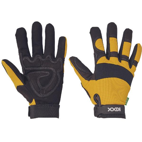 BRICK KIXX rukavice kombinované - žlutá - 10