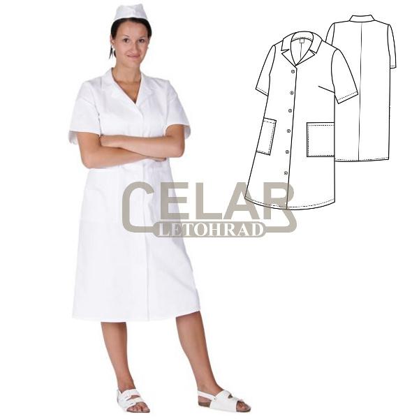 (0012) plášť dámský krátký rukáv prop. fazonka