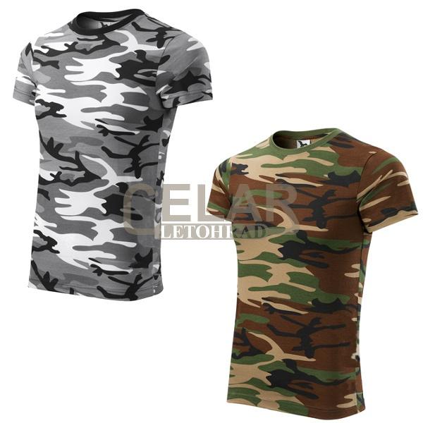 tričko 144 pánské krátký rukáv - camouflage