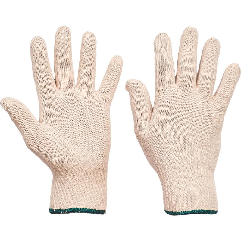 AUKLET rukavice pletené bezešvé bavlněné