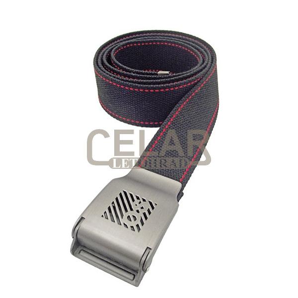 BILLUM pásek 135 cm - černá/červená
