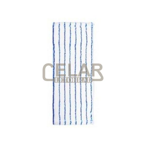 Úklidový mop 50x16cm mikrovlákno modro-bílý s chlopněmi