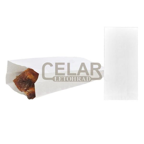 Sáček nepromastitelný papír.10,5+5,5x24cm bílý (100ks)