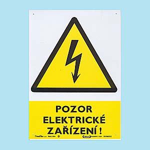 Pozor - Elektrické zařízení 210x300mm - plast